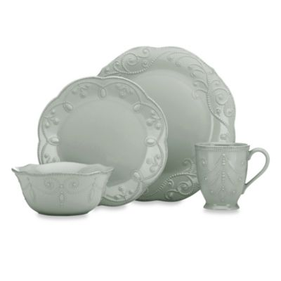 Lenox® French Perle™ 4-Piece Place Setting in Grey  sc 1 st  Bed Bath \u0026 Beyond & Buy French Dinnerware Sets from Bed Bath \u0026 Beyond
