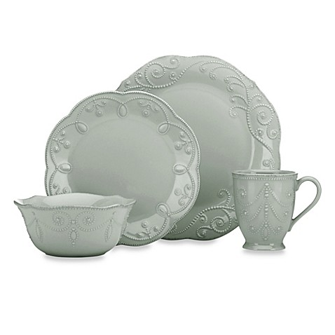 sc 1 st  Bed Bath u0026 Beyond & Lenox® French Perle™ Dinnerware Collection in Grey - Bed Bath u0026 Beyond