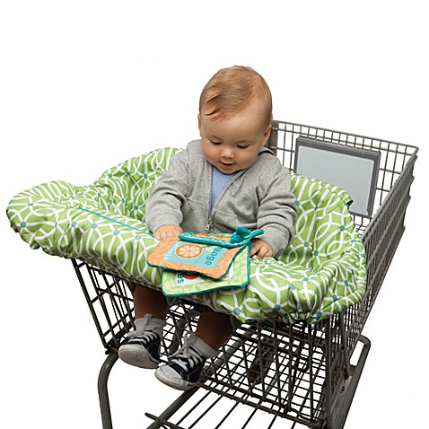 Boppy 174 Shopping Cart Cover In Park Gate Green Buybuy Baby