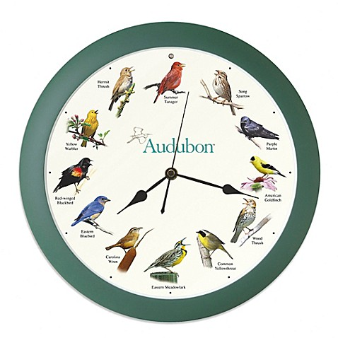 Audubon Singing Bird Wall Clock Bed Bath Amp Beyond