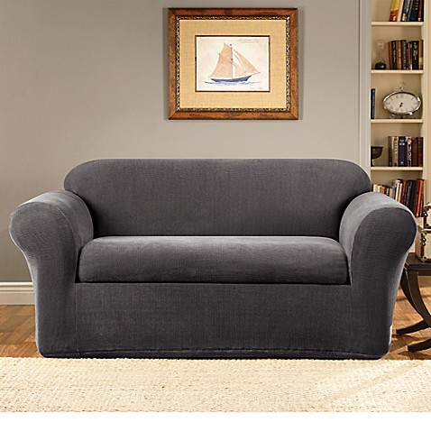 Sure Fit 174 Stretch Metro 2 Piece Loveseat Cover Bed Bath