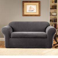 Sure Fit® Stretch Metro 2-Piece Loveseat Cover in Grey
