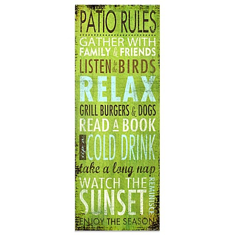 Patio Wall Art patio rules indoor/outdoor wall art - bed bath & beyond