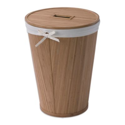 Creative Bath Ecostyles Bamboo Round Hamper With Lid