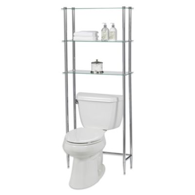 Creative Bath Lu0027Etagere 3 Shelf Glass Space Saver