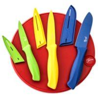 Fiesta® 7-Piece Cutlery Set with Scarlet Cutting Board