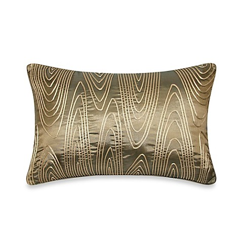 Antique Gold Decorative Pillows : Buy Faux Bois Cord Oblong Throw Pillow in Antique Gold from Bed Bath & Beyond