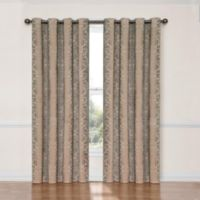 SolarShield® Naomi 63-Inch Room Darkening Window Curtain Panel in Natural Linen