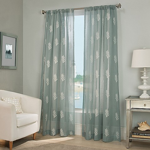Reef sheer window curtain panel for Bed bath and beyond curtains for living room