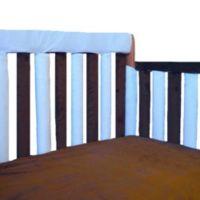 Go Mama Go Designs® 52-Inch x 12-Inch Teething Guard in Blue/Chocolate