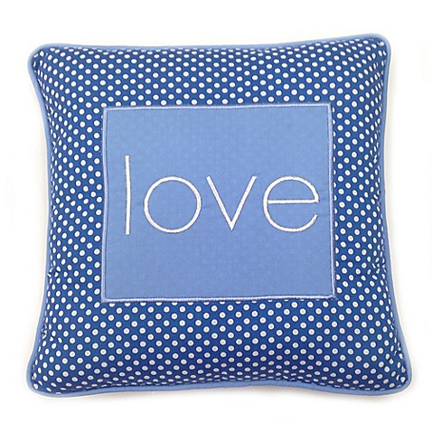 Decorative Love Pillow : Decorative Pillows > One Grace Place Simplicity Blue