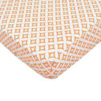 TL Care® Cotton Percale Crib Sheet in Orange Tile