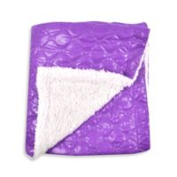 Tadpoles™ by Sleeping Partners Quilted Puffer Baby Blanket with Sherpa Backing in Grape