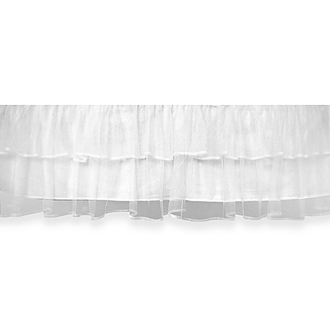 Tulle Triple Layer Bed Skirt in White