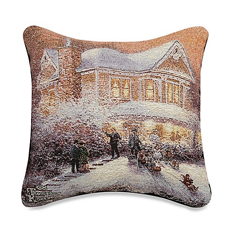 Victorian Christmas II Square Throw Pillow - Bed Bath & Beyond