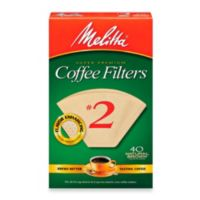 Melitta® 40-Count Number 2 Natural Brown Super Premium Coffee Filters