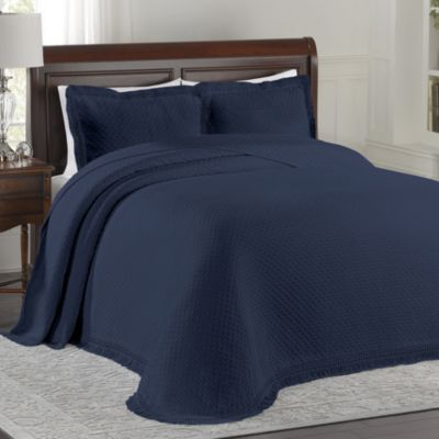 Lamont Home™ Woven Jacquard Queen Bedspread In Blue