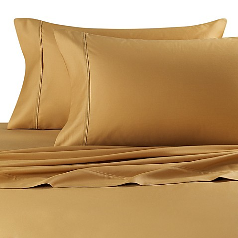 Buy 500 Thread Count King Deep Pocket Sheet Set In Gold
