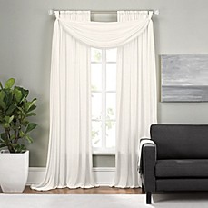 Epic Rod Pocket Window Curtain Panels And Scarf Valance