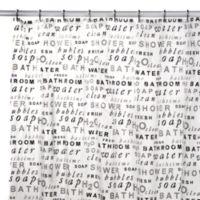 H2O Vinyl Shower Curtain