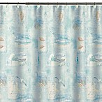 High Tide Fabric Shower Curtain