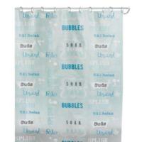 Bubble Bath 70 Inch X 72 Shower Curtain