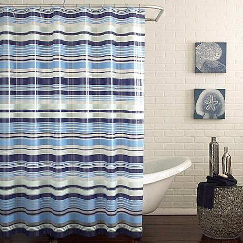 PEVA Raya Shower Curtain In Blue