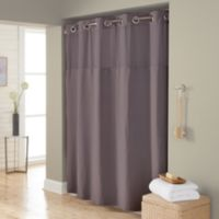 Hookless® Waffle 54-Inch x 80-Inch Stall Fabric Shower Curtain in Dark Grey