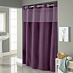 Hookless® Waffle 71-Inch x 86-Inch Long Fabric Shower Curtain in Purple