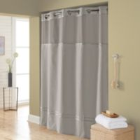 Hookless® Escape 71-Inch x 74-Inch Fabric Shower Curtain and Shower Curtain Liner Set in Grey