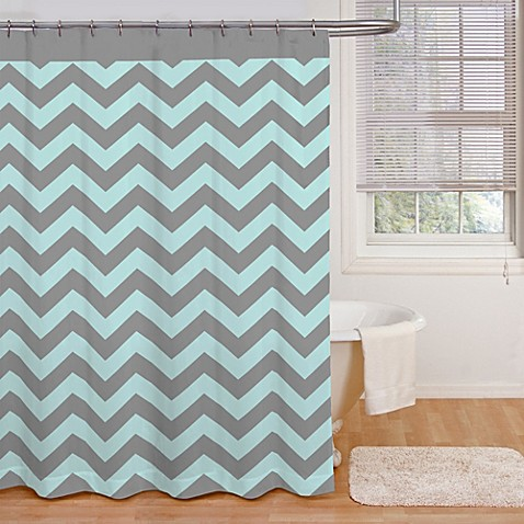 Ryder 72 Inch X 72 Inch Shower Curtain In Aqua Grey Bed Bath Beyond