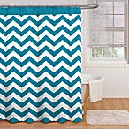 Ryder 72-Inch x 72-Inch Shower Curtain in Peacock Blue/White
