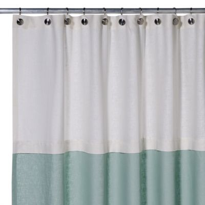 Soho 72 Inch X 75 Linen Shower Curtain In Aqua