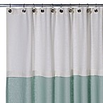 Soho 72-Inch x 75-Inch Linen Shower Curtain in Aqua