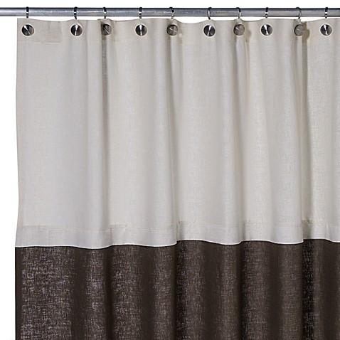 Soho 72Inch x 75Inch Linen Shower Curtain in Brown  Bed Bath u0026 Beyond