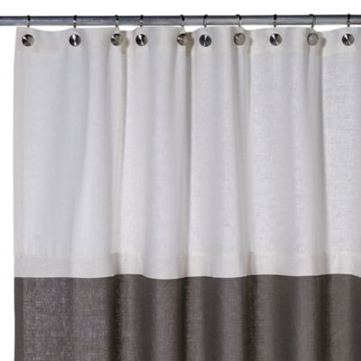 Soho 72 Inch X 75 Linen Shower Curtain In Grey