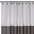 Soho 50-Inch x 84-Inch Linen Stall Shower Curtain in Pearl/Grey
