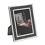 Oleg Cassini 5-Inch x 7-Inch Crystal Hematite Picture Frame