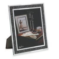 Oleg Cassini 8-Inch x 10-Inch Crystal Hematite Frame