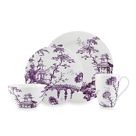 Scalamandre by Lenox® Toile Tale 4-Piece Place Setting in Amethyst