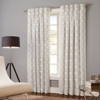 Designer's Select Claudia 95-Inch Back Tab Window Curtain Panel in White/Grey