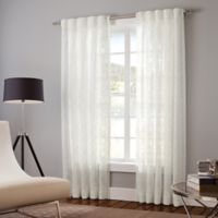 Designer's Select Claudia 95-Inch Back Tab Window Curtain Panel in White