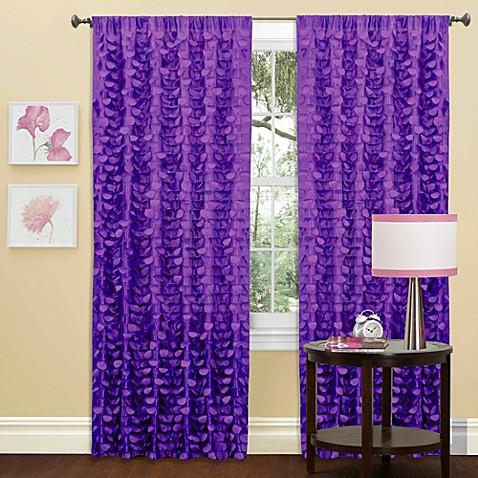 gigi window curtain panel in purple - bed bath & beyond