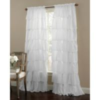 Gypsy 63-Inch Rod Pocket Window Curtain Panel in White