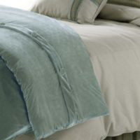 HiEnd Accents Arlington Velvet Queen Duvet Cover