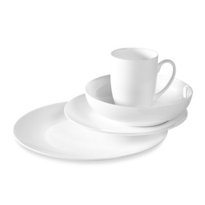 Tabletops Unlimited® Monarque Bone China 16 Piece Dinnerware Set
