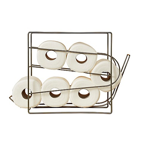 Mesh Top Rolling Toilet Paper Matte Nickel Dispenser Bed