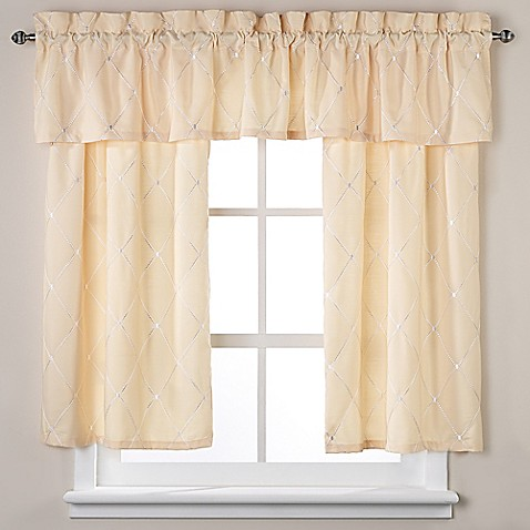 wellington window curtain tier pair and valance in yellow 85724