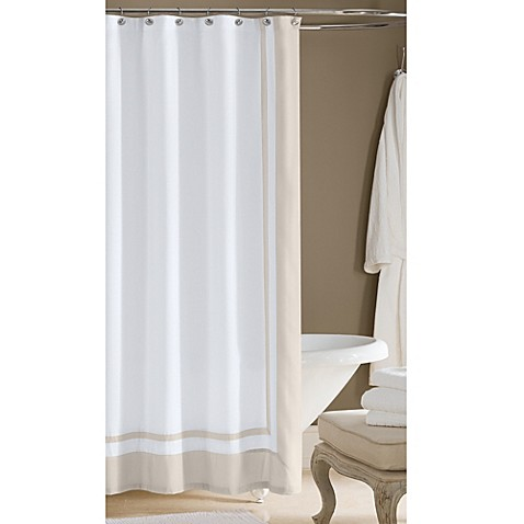 Wamsutta hotel shower curtain bed bath beyond for Hotel drapes for sale