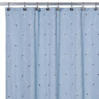 Wellington 72 Inch X 96 Fabric Shower Curtain In Blue
